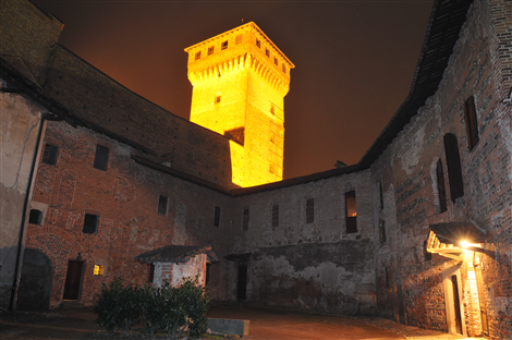 Il Cortile interno al Castello